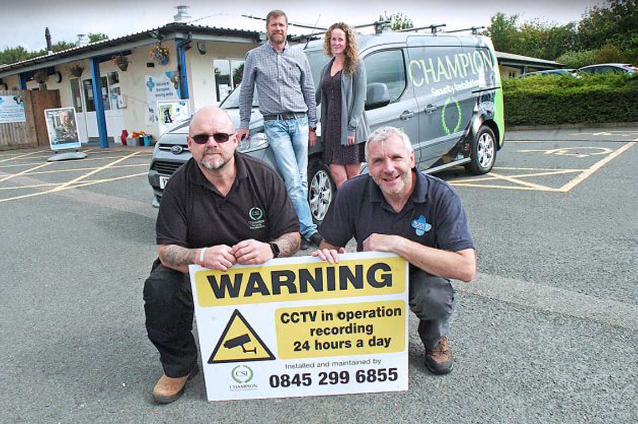 Bromsgrove security company installs free CCTV for Blue Cross after charity's goods were stolen